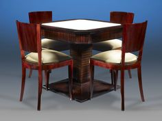 Art Deco Card Table and Chairs