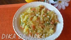 Dika da Naka Blog de Culinária, Receitas, Gastronomia e Dicas de Alimentação: Salada de mandioca com molho de maracujá