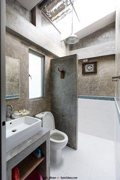 ideas bath room wood shelves shower tiles for 2019 Zen Bathroom, Bathroom Toilets, Modern Bathroom, Small Bathroom, Small Toilet, Toilet Design, Loft House, Classic Bathroom, Bathroom Trends