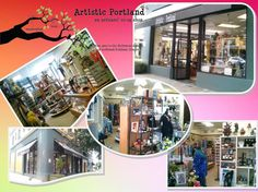 Artistic Portland. Advertisement. Artists co-op. Portland art. Portland co-op. Artisans co-op. Hollywood District. Gift shop. Gift gallery. Art gallery.
