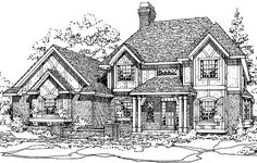 Eplans Tudor House Plan - Four Bedroom Northwest - 2943 Square Feet and 4 Bedrooms from Eplans - House Plan Code HWEPL69850