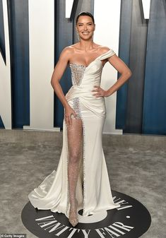 Adriana Lima makes sweats chic as she pairs with black heeled booties - Night to day: The night before she stunned on the red carpet of the Vanity Fair Oscar afte… - Winnie Harlow, Kate Bosworth, Rosie Huntington Whiteley, Kate Hudson, Charlize Theron, Heidi Klum, Oscars, Party Fashion, Fashion Outfits