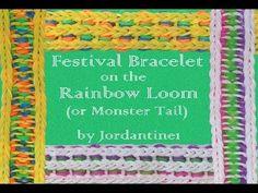 ▶ New Festival Bracelet - Reversible - Rainbow Loom or Monster Tail - YouTube