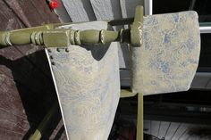 Drop cloth:dyed and stenciled with chalk paint