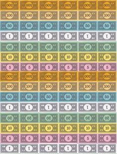 Gratifying image in monopoly money printable