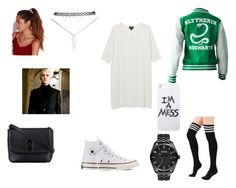 """GO SLYTHERIN !!!"" by chaimae-megherbi on Polyvore featuring mode, Monki, Converse, ZALORA, Missguided, LAUREN MOSHI, Wet Seal et Nixon"