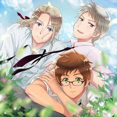 Bad Touch Trio (Hetalia) <<<< I actually stopped breathing for a second my gosh I love them why are you three not real and in my life?
