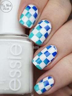 Haha I like this simple design. It's my taste. You can see them here>> http://www.mypolishstash.com/2015/07/essie-private-weekend-checkerboard.html