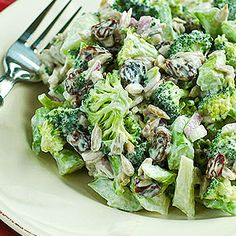 Here is a wonderful twist on the traditional broccoli raisin salad. This one is vegan and raw! Filled with delicious nutrients and so much better for you.