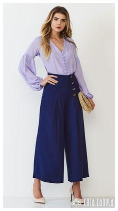 LOOK BOOK 1 • Coleção Cosmopolitan • Cora Canela Square Pants, Wide Pants, Shirt Blouses, Shirts, Ideias Fashion, 1, Clothes, Outfits, Style