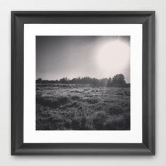Empty Field Framed Art Print by ADH Graphic Design - $40.00