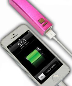 A rechargeable power bank that is small enough to fit in a purse or pocket and adds hours of life to any device with a USB charging cord.