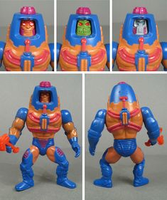 "Man-E-Faces, with all of his rotating faces, from Mattel's ""Masters of the Universe"" in 1983"