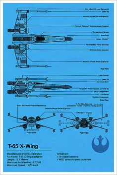The X-Wing Starfighter Blueprint by Vespertin. The X-Wing is my favourite design from Star Wars Star Wars Ships, Star Wars Art, Star Trek, X Wing, Starwars, Photos Rares, Star Wars Vehicles, Rebel Alliance, Love Stars