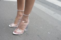 Clearly, these heels are standouts.   #pfw #streetstyle #ss14