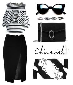 """CHIC WISH CONTEST !!!"" by eva-jez ❤ liked on Polyvore featuring Chicwish, Gucci, Yves Saint Laurent and Roland Mouret"