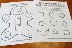 """We have been doing gingerbread activities and today we wrapped up the activities! The first thing I did was read """"The Gingerbread Baby""""."""