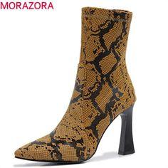 MORAZORA 2020 storlek 34 48 över knästövlar kvinnor spetsig