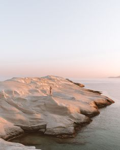 Moonscapes of Sarakiniko in Milos, Greece - Sarakiniko beach at sunrise in Milos, Greek Islands via Find Us Lost Oh The Places You'll Go, Places To Travel, Places To Visit, Travel Destinations, Photos Voyages, Travel Aesthetic, Adventure Is Out There, Greek Isles, Travel Photography