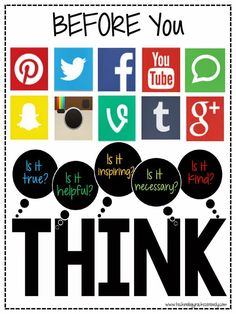 technology rocks. seriously.: BEFORE You Post: THINK http://www.technologyrocksseriously.com/2014/10/before-you-post-think.html?m=1