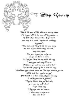 To stop gossip