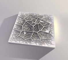 a two layer voronoi pattern, that celebrates hierarchy, and amorph structures.