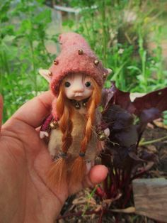 sweet  tiny 4 inch  fairy fairie  bug  by throughthemagicdoor, $98.00