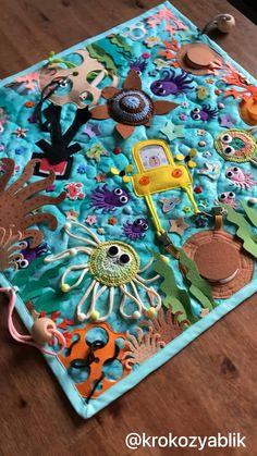 Sensory Book, Baby Sensory, Fall Preschool Activities, Infant Activities, Ocean Crafts, Fun Crafts, Quite Book Patterns, Quiet Book Templates, Felt Puppets
