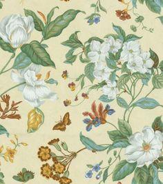 Home Decor Fabric-Waverly Garden Images Parchment