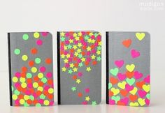 Mod Podge for beginners -- personalized notebooks