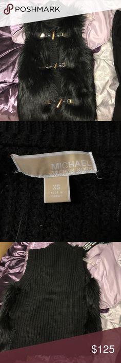 Michael Kors never worn fur vest Michael Kors black fur vest Michael Kors Jackets & Coats Vests