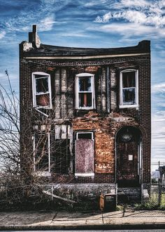 Warped - Abandoned House In North St. Louis . Fine Art Photography Prints and Wall Art.