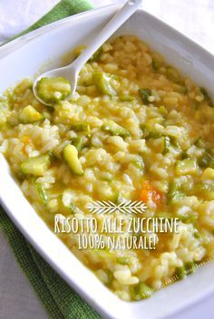 Risotto Recipes, Rice Recipes, Veggie Recipes, Soup Recipes, Healthy Recipes, Almond Paste Cookies, Zucchini, Italy Food, Lentils