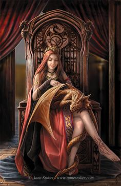 Beautiful princess with her pet dragon. Fantasy and imagination are wonderful things.