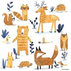 Today's Daily Creating Group prompt: Animals for Come join the adventure! Link from website in bio. Pet Day, Woodland Animals, Illustration Art, Animal Illustrations, New Art, Original Artwork, Kids Rugs, Watercolor, Art Prints
