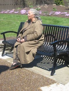 """Toni Morrison's """"Bench by the Road"""".  Constructed by local #Oberlin, #Ohio Master Gardener Todd Martz."""