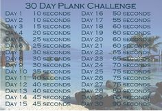 30 Day Plank Challenge for Beginners