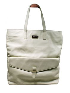 18 AND EAST Leather Tote Cream  £150