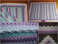 Granny Stripe Blanket border: free pattern