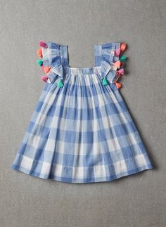 Nellystella Chloe Dress in Blue Plaid - PRE-ORDER