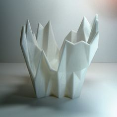 FROZEN ICE bonsai planter boxes geometric best gifts for men cool stuff polygonal office modern sculpture plastic planter cubical decor (33.00 USD) by MeshCloud