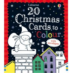 A collection of twenty festive Christmas cards to color and rich red envelopes to send them in. Each card is gorgeously illustrated. The kids can color cards to send to grandparents or friends! Send Christmas Cards, Christmas Books, Christmas Holidays, Christmas Ideas, Xmas, To Color, Color Card, Owl Kids, Illustrations