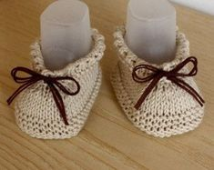 Free knitting pattern for charming infant booties knitted flat on 2 needles with brief rows so no getting stitches! Great method to consume left over ...