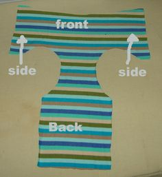 Here is a picture of the lining of the training pants with cotton batting sewn to it. These tp's have one solid layer of batting that goes from the front to the back and one layer just for the middle. This is suggested for girl undies. You can add the extra layer to the front for boys undies, or use just one layer.