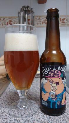 Big Bear, cerveza clásica de estilo Pale Ale. Color tostado, suave, fresca, con un amargor propio, agradable en boca.