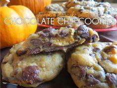 Pumpkin Cheesecake-Filled Chocolate Chip Cookies