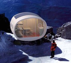 The LEAP (Living Ecological Alpine Pod), a Prefab Modular Hut for High Altitudes & Mountain Living.