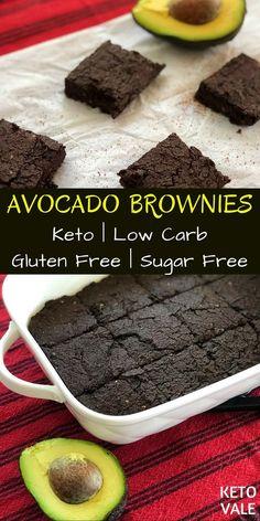 Keto Avocado Brownies - Keto Brownies - Ideas of Keto Brownies - Keto Low Carb and Sugar Free Avocado Brownies Recipe Avocado Brownies, Keto Brownies, Avocado Dessert, Keto Desserts, Dessert Recipes, Delicious Desserts, Dinner Recipes, Bon Dessert, Low Carb Dessert