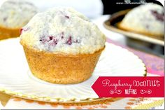 Raspberry Coconut Muffins. Filled the house with wonderful scent of coconut. Delicious! Yield: 20 muffins. I used frozen raspberries!