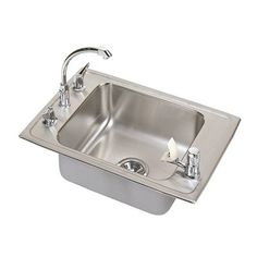 Elkay DRKR3119C Lustertone Double Ledge Classroom Package Commercial Sink